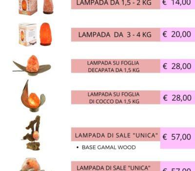 LISTINO LAMPADE DI SALE 1